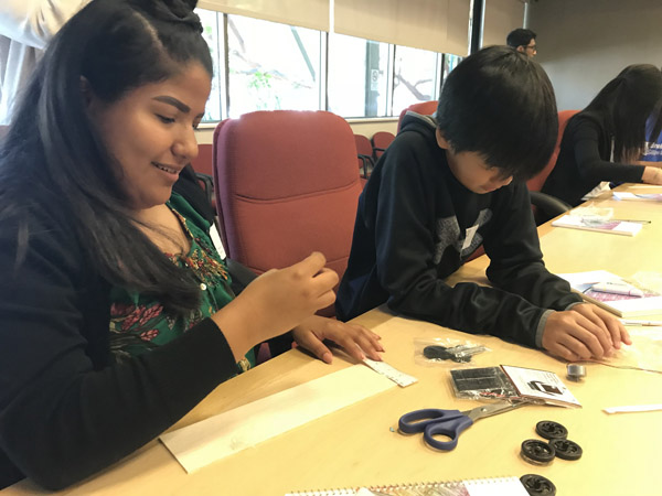 Students built car prototypes at Applied Materials' headquarters in Silicon Valley.