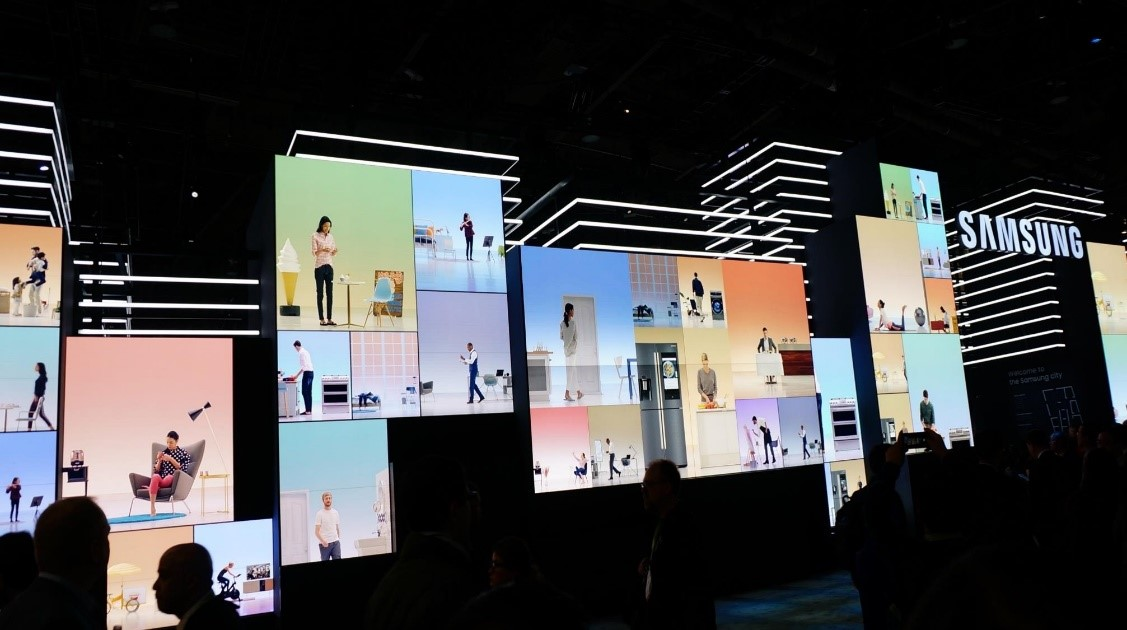 "The ""Samsung City"" showcase featured HDR billboard-sized LED displays."