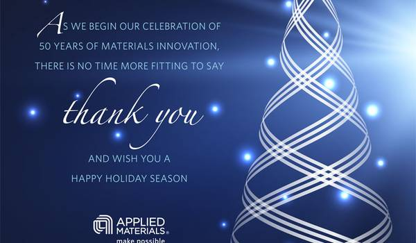 Holiday Greetings From Applied Materials