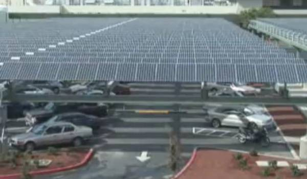 Parking Lot to Solar Power Generator