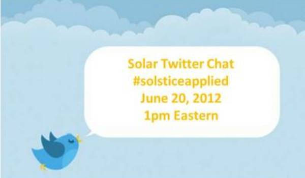 Applied Materials Solar Twitter Chat with Cathy Boone #solsticeapplied